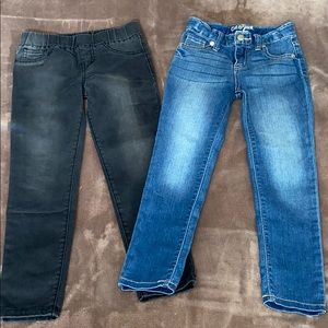Cat & jack jeggings/skinny jeans 2 pairs
